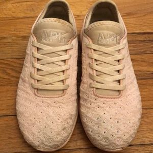 Blush Pink APL Trainers